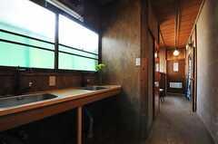廊下に設置された洗面台の様子2。(2013-03-08,共用部,OTHER,2F)