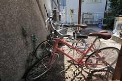 自転車置場には共用の自転車が2台あります。(2013-03-08,共用部,GARAGE,1F)