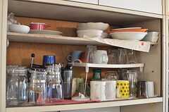 食器棚の様子。(2014-05-12,共用部,KITCHEN,1F)