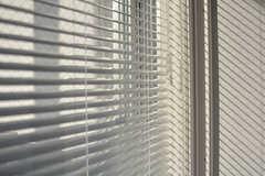 窓にはブラインドが取り付けられています。(606号室)(2017-05-08,専有部,ROOM,6F)