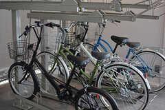シェア自転車の様子。(2017-05-08,共用部,GARAGE,1F)