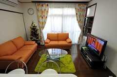 シェアハウスのリビングの様子4。(2010-11-24,共用部,LIVINGROOM,1F)