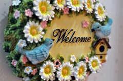 """廊下には""""welcome""""と書かれたサイン。(2010-07-16,共用部,OTHER,1F)"""