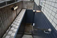 地下の防音スタジオには、外階段から直接アクセスすることもできます。(2017-10-16,共用部,OTHER,1F)