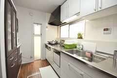 シェアハウスのキッチンの様子。(2009-06-11,共用部,KITCHEN,1F)