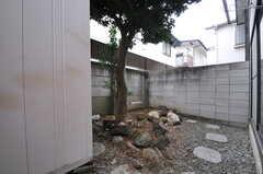 庭の様子。108号室専用です。(101号室)(2014-02-06,専有部,ROOM,1F)