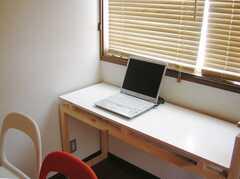 シェアハウスのラウンジに設置された共用PC。(2007-07-17,共用部,PC,2F)
