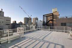 階段脇からルーフバルコニーへ出られます。とても広く、気持ちが良い場所。(2012-11-21,共用部,OTHER,7F)