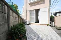 専用の庭の様子2。(101号室)(2014-05-28,専有部,ROOM,1F)