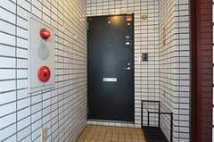 シェアハウスの玄関の様子。建物のワンフロアがシェアハウスです。(2014-05-01,周辺環境,ENTRANCE,7F)