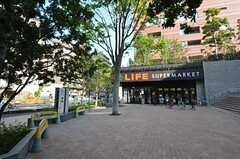 シェアハウスの周辺環境の様子3。近くにスーパーもあります。(2014-05-01,共用部,ENVIRONMENT,1F)