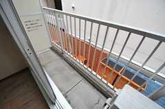 ベランダの様子。(202号室)(2013-10-15,専有部,ROOM,2F)