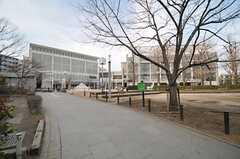 めぐろパーシモンホールの様子。目黒区立八雲中央図書館が併設されています。(2014-02-03,共用部,ENVIRONMENT,1F)