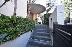 階段を数段上ると玄関があります。(2014-03-14,周辺環境,ENTRANCE,1F)