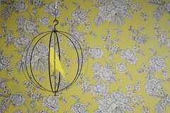 壁紙は花模様です。(2015-01-27,共用部,LIVINGROOM,1F)