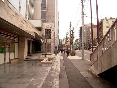 神谷町駅からシェアハウスへ向かう道