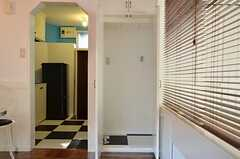 洗濯機置き場の様子。(101号室)(2012-09-13,専有部,ROOM,1F)