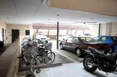 自転車置場の様子。(2010-09-21,共用部,GARAGE,1F)