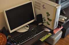 共用PCの様子。(2013-12-02,共用部,TV,1F)