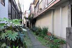 シェアハウスの前には私道があります。(2013-12-11,共用部,OUTLOOK,1F)