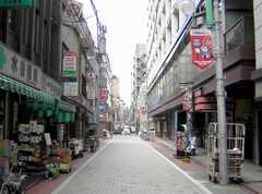 各線大門駅からシェアハウスへ向かう道の様子。(2007-09-04,共用部,ENVIRONMENT,1F)