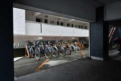 自転車置き場の様子。(2017-08-31,共用部,GARAGE,1F)