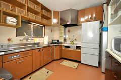 シェアハウスのキッチンの様子。(2010-02-05,共用部,KITCHEN,4F)