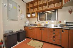 シェアハウスのキッチンの様子2。(2010-02-05,共用部,KITCHEN,4F)