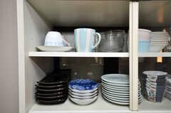食器棚の様子。(2010-02-05,共用部,KITCHEN,4F)