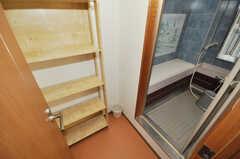 脱衣室の様子。(2010-02-05,共用部,BATH,5F)