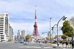 赤羽橋駅からみた東京タワー。(2019-04-05,共用部,ENVIRONMENT,1F)