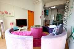 シェアハウスのラウンジの様子2。(2009-02-06,共用部,LIVINGROOM,8F)