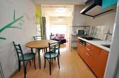 ラウンジの空間全体を見るとこんな感じ。(2009-02-06,共用部,LIVINGROOM,8F)