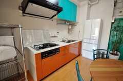シェアハウスのキッチンの様子。(2009-02-06,共用部,KITCHEN,8F)