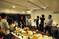 ウエルカムパーティーの様子2。(2010-10-02,共用部,PARTY,1F)