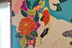 壁画には鯉。(2013-02-21,共用部,OTHER,3F)