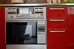 オーブンの様子。(2013-02-21,共用部,KITCHEN,3F)