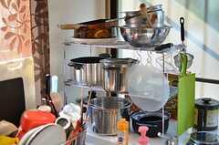 様々な調理器具が用意されています。(2011-11-24,共用部,KITCHEN,1F)