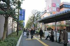 JR中央線・武蔵境駅近くにあるバス停の様子。(2011-11-24,共用部,ENVIRONMENT,1F)