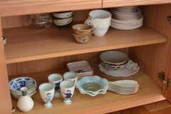 食器棚の様子。(2017-03-08,共用部,KITCHEN,2F)
