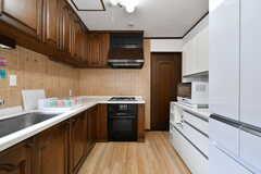 キッチンの様子。(2017-07-24,共用部,KITCHEN,1F)