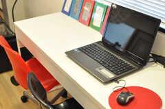 共用PCの様子。(2012-10-08,共用部,PC,1F)