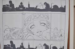 アニメテイストのテキスタイル。(209号室)(2012-10-08,専有部,ROOM,2F)