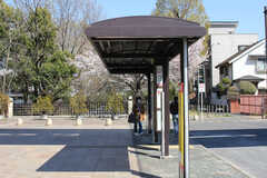 各線・玉川上水駅周辺の様子3。バス停があります。(2019-04-04,共用部,ENVIRONMENT,1F)