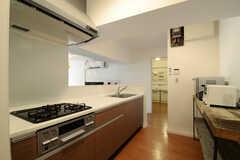 キッチンの様子。(2013-03-19,共用部,KITCHEN,4F)