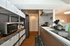 キッチン全体の様子。(2020-01-29,共用部,KITCHEN,4F)