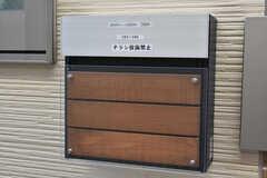 郵便受けは1階と2階で分かれています。(2019-01-24,周辺環境,ENTRANCE,1F)