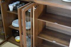食器棚は専有部ごとにスペースが分けられています。(2016-02-10,共用部,KITCHEN,3F)