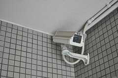 廊下には防犯カメラがいくつも設置されています。(2014-09-17,共用部,OTHER,1F)