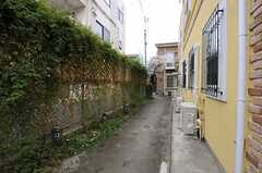 建物脇の通路の様子。自転車置場につながっています。(2013-03-25,共用部,OTHER,1F)